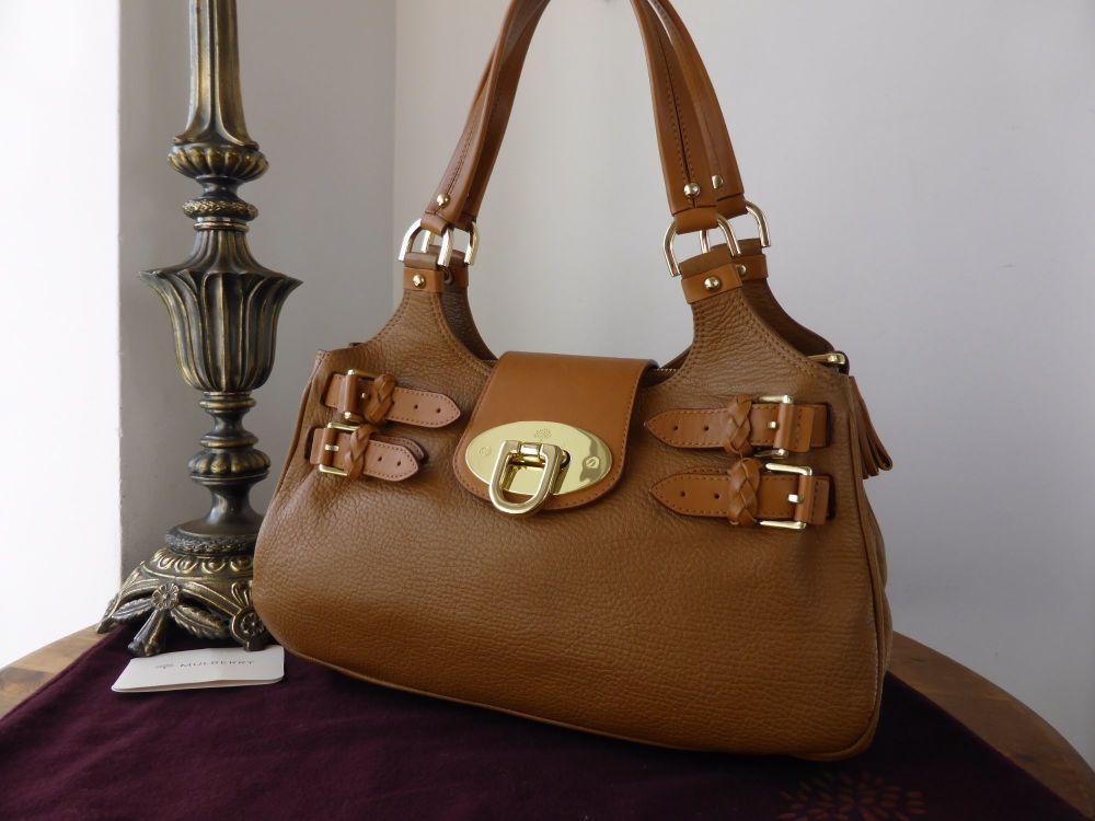 Mulberry Wilton Shoulder Bag in Walnut Chester Goatskin