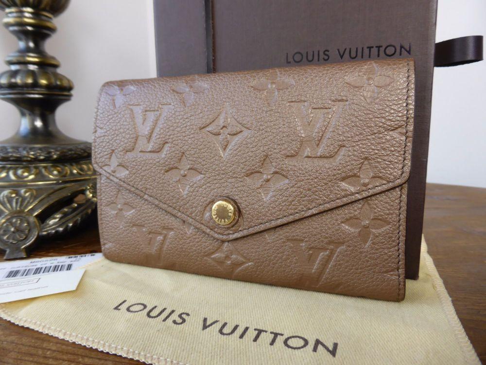 Louis Vuitton Compact Curieuse Wallet in Empreinte Bronze