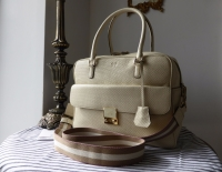 Anya Hindmarch Carker in Perforated Cream Calfskin - New*