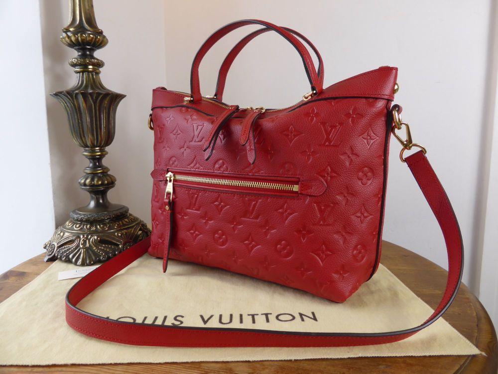 Louis Vuitton Bastille PM in Cherry Empreinte Leather - As New