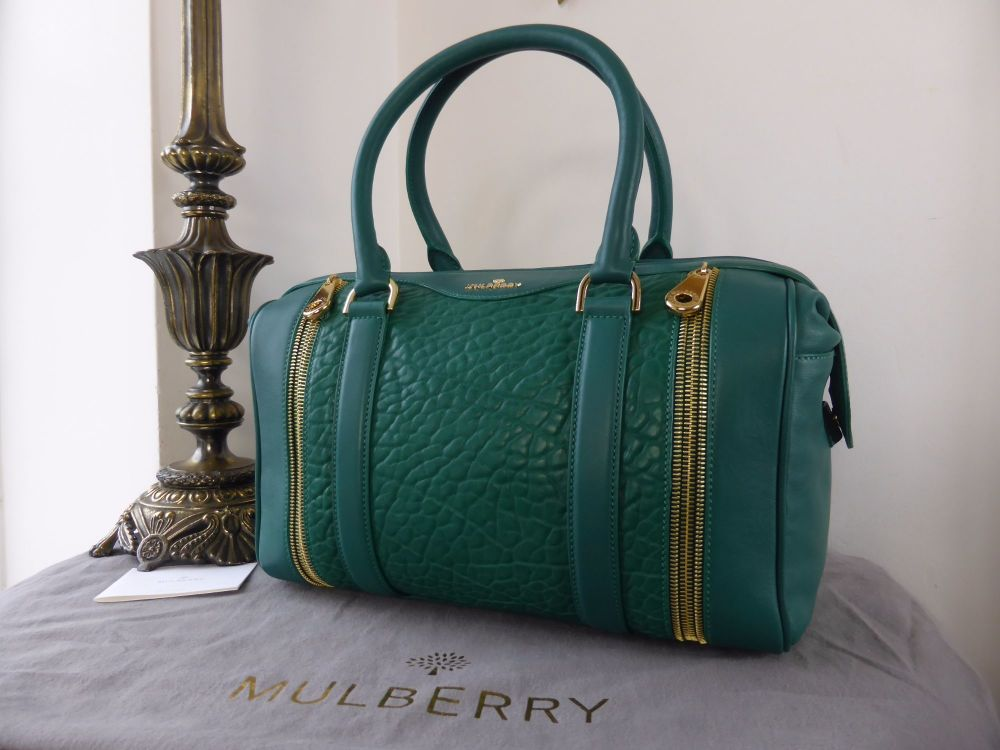 Mulberry Tasha in Emerald Shrunken Calf Leather