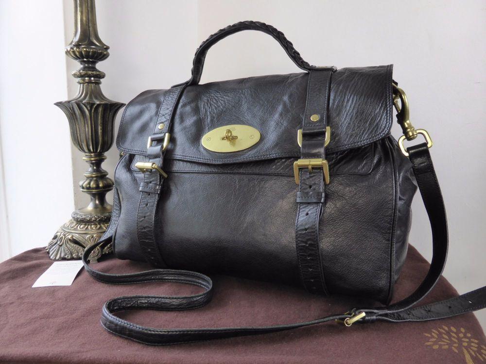 Mulberry Oversized Alexa in Black Soft Buffalo Leather
