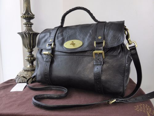 06ea18baa0 Mulberry Oversized Alexa in Black Soft Buffalo Leather - SOLD