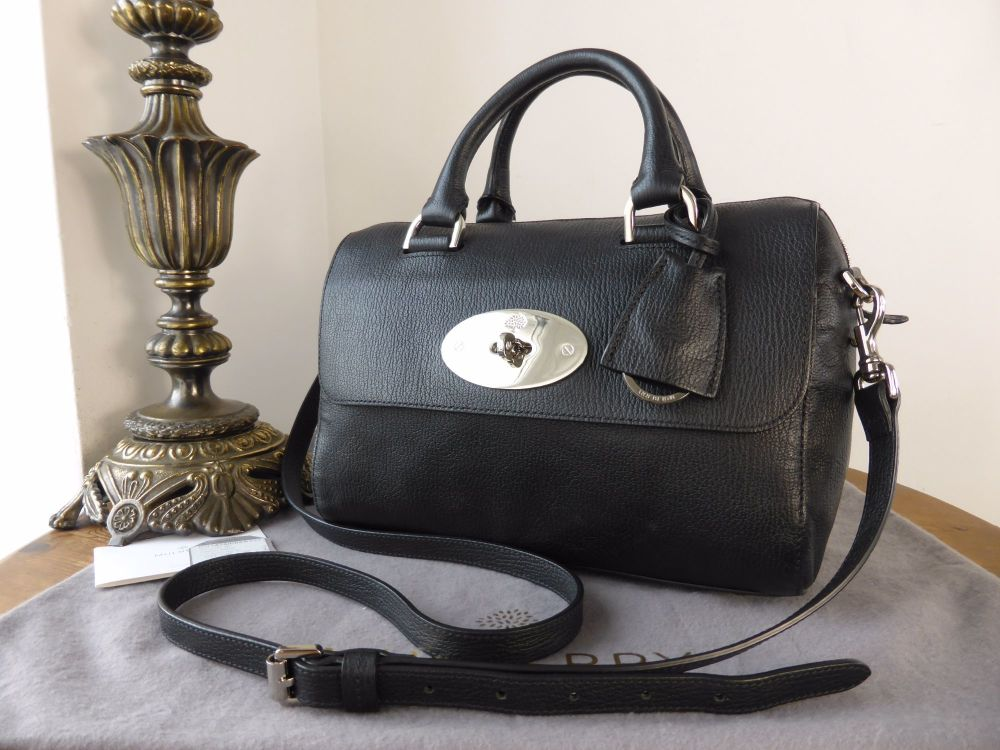 Mulberry Del Rey (Small) in Black Grainy Print Leather