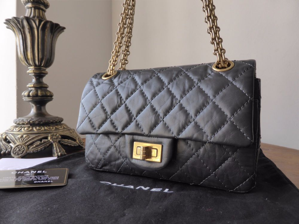 Chanel 224 Reissue Mademoiselle Flap in Black Distressed Calfskin with Ruth