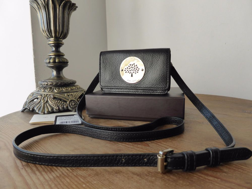 Mulberry Daria Mini Messenger in Black Soft Spongy Leather