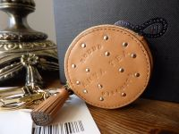 Anya Hindmarch Round Tea Biscuit Mini Coin Purse Bag Charm Key Ring - New