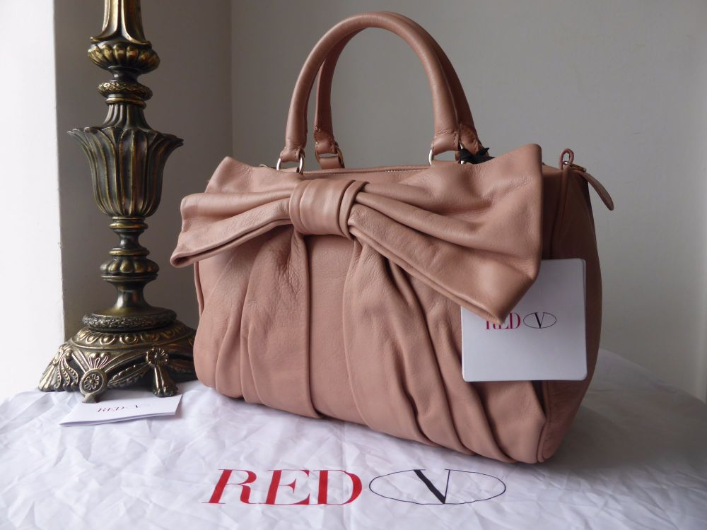 RED Valentino Bow Bag in Cammeo Pink Calfskin Leather New - As New*