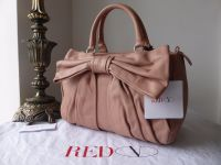 RED Valentino Bow Bag in Cammeo Pink Calfskin Leather - As New*