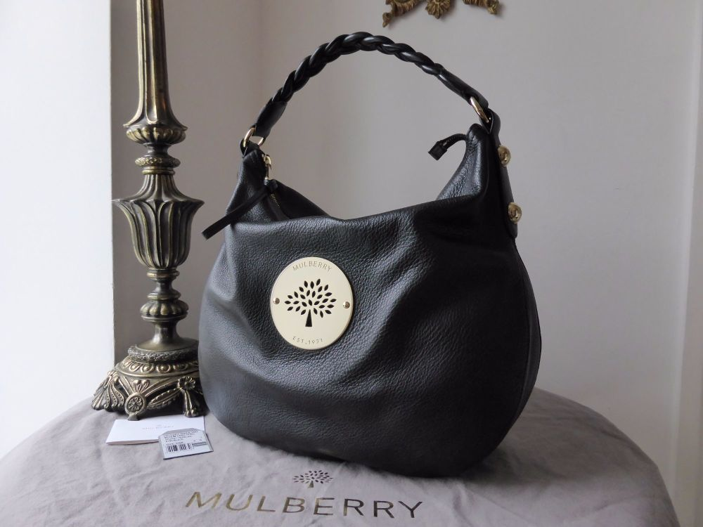 Mulberry Medium Daria Hobo in Black Soft Spongy Leather