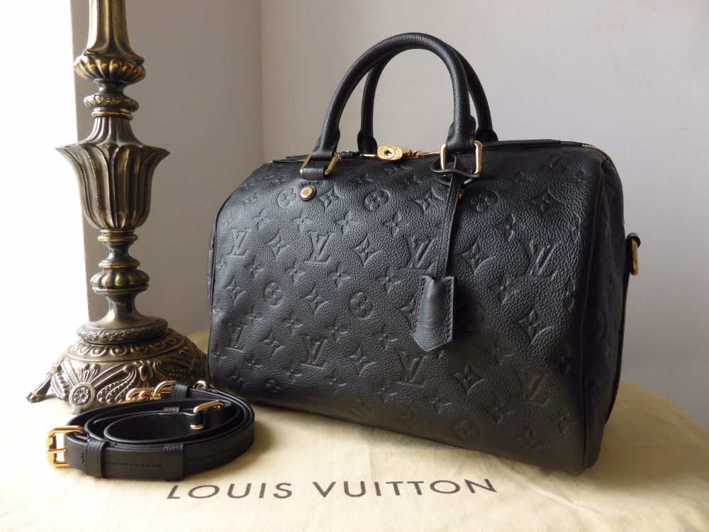 Louis Vuitton Speedy Bandoulière 30 in Monogram Empreinte Noir - As New