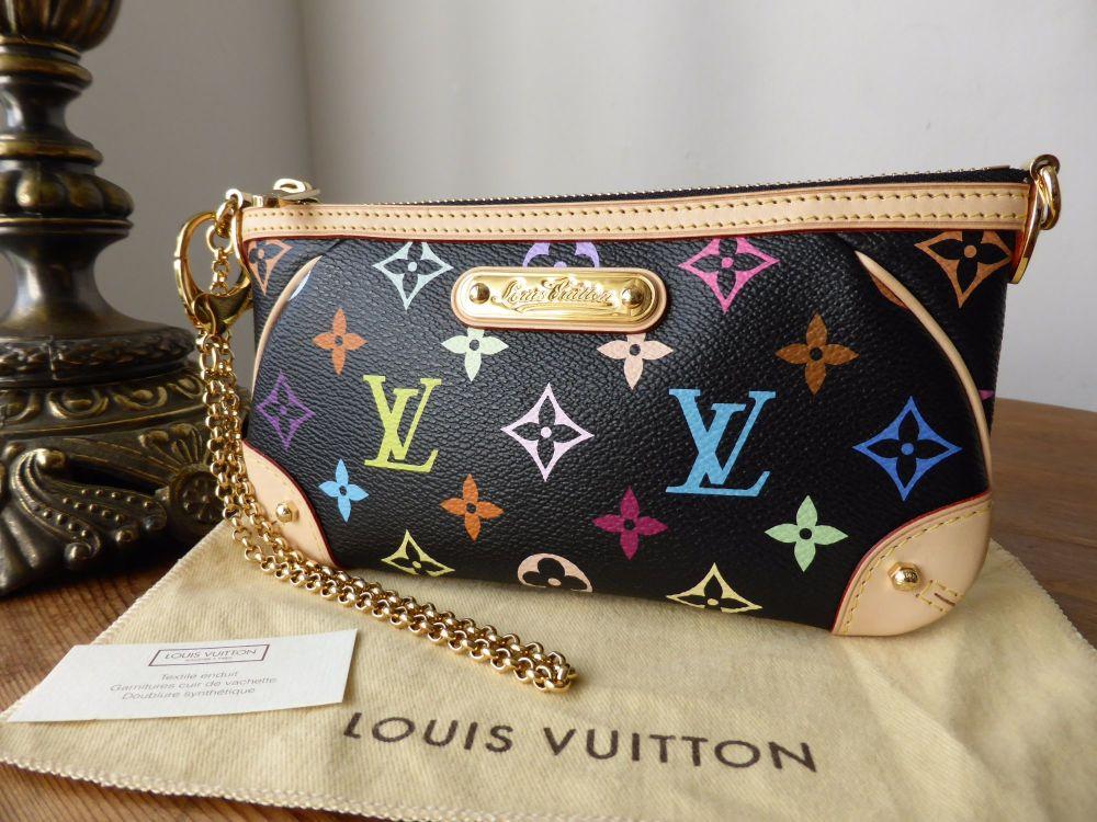 Louis Vuitton Milla Pochette MM in Multicolore Monogram Noir
