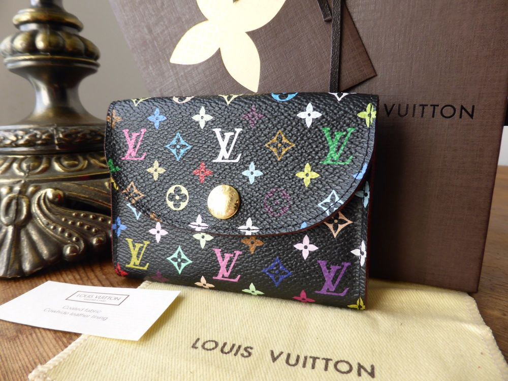Louis Vuitton Envelope Cartes de Visite Card Case Multicolore Noir