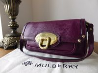 Mulberry Abingdon Small Shoulder Bag in Damson Chester Goatskin
