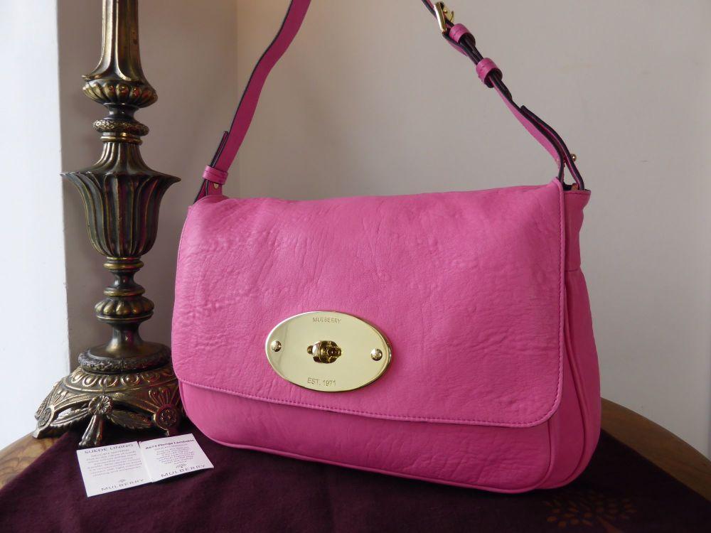Mulberry Bayswater Shoulder Clutch in Peony Pink Lambskin Plonge