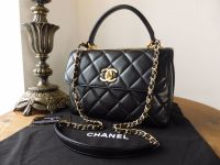 Chanel Trendy CC Small Flap in Black Lambskin with Gold Hardware - As New
