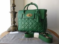 Mulberry Cara Delevingne Medium Bag in Green Quilted Nappa - As New