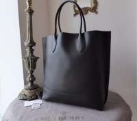 Mulberry Blossom Tote in Black Calf Nappa - As New