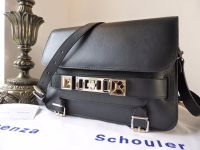 Proenza Schouler PS11 Satchel in Black Smooth Calf Leather