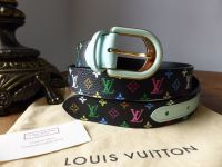 Louis Vuitton Belt in Multicolore Noir M9732