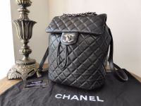 Chanel 'Urban Spirit' Smaller Sized Backpack in Black Lambskin with Silver Hardware