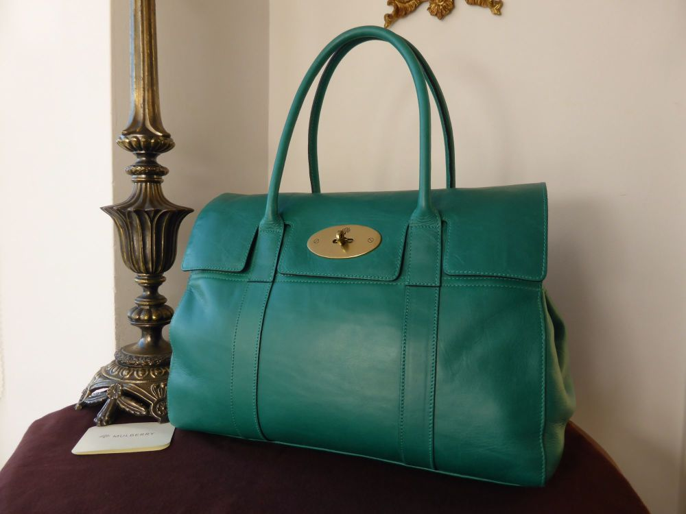 Mulberry Classic Bayswater Special in Emerald Lightweight Antiqued Leather