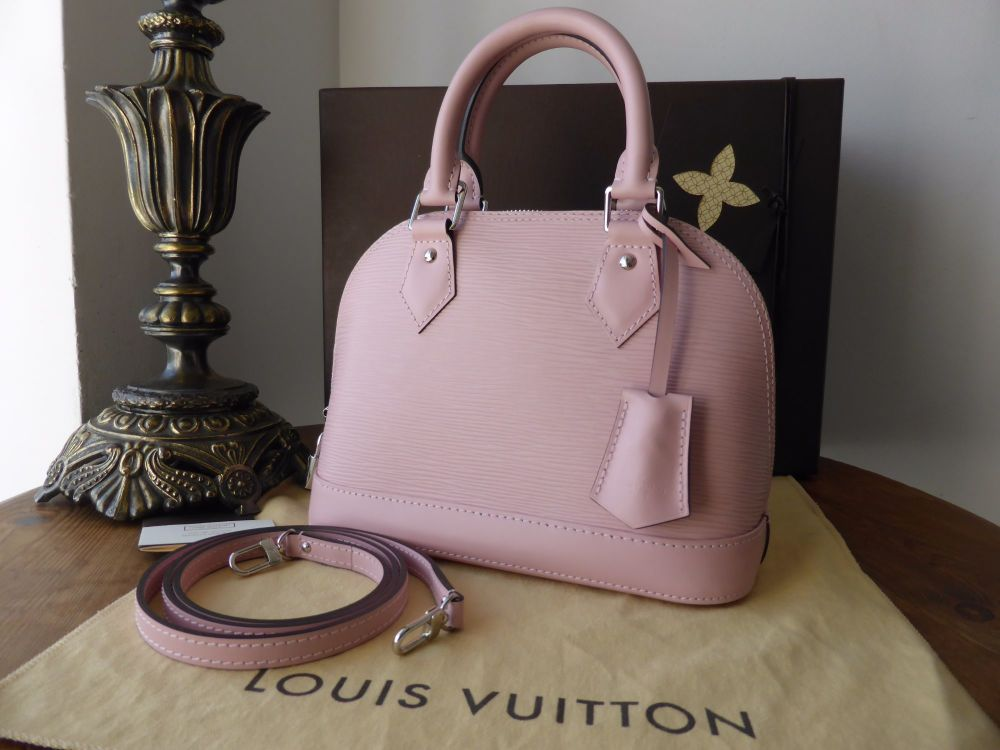 Louis Vuitton Alma BB in Rose Ballerine Epi Leather