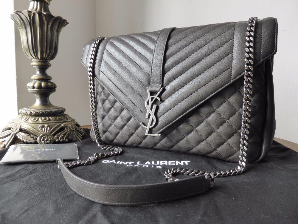 Saint Laurent Monogram Collège Mixed Matelasse Leather Shoulder Bag