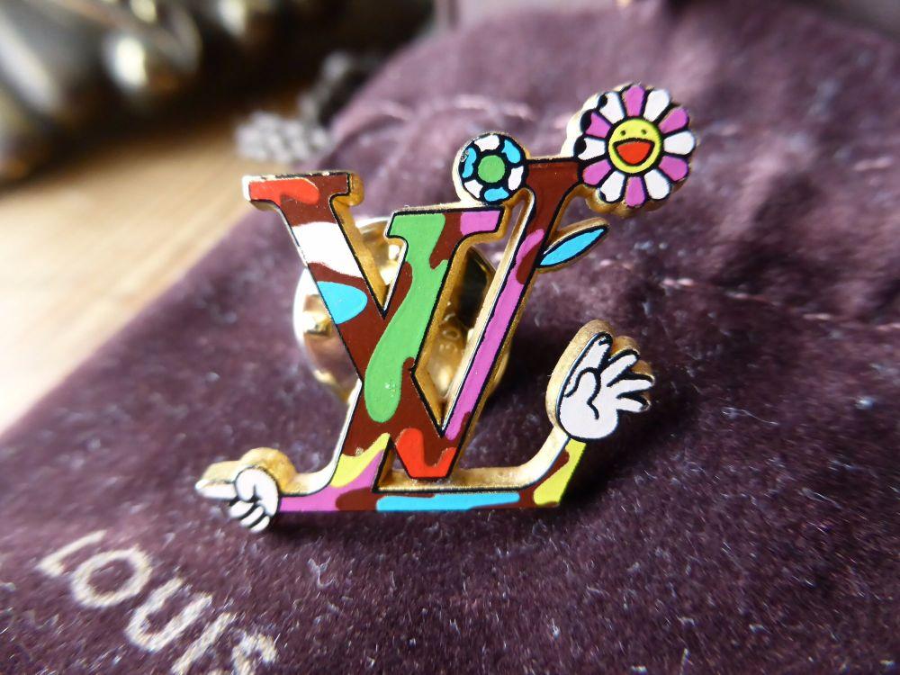 Louis Vuitton Limited Edition Takashi Murakami 'Moca Hands' Pin Badge