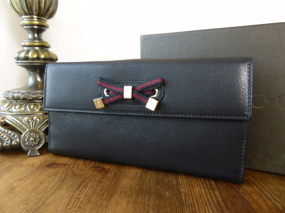 Gucci Princy Continental Wallet in Black Calfskin