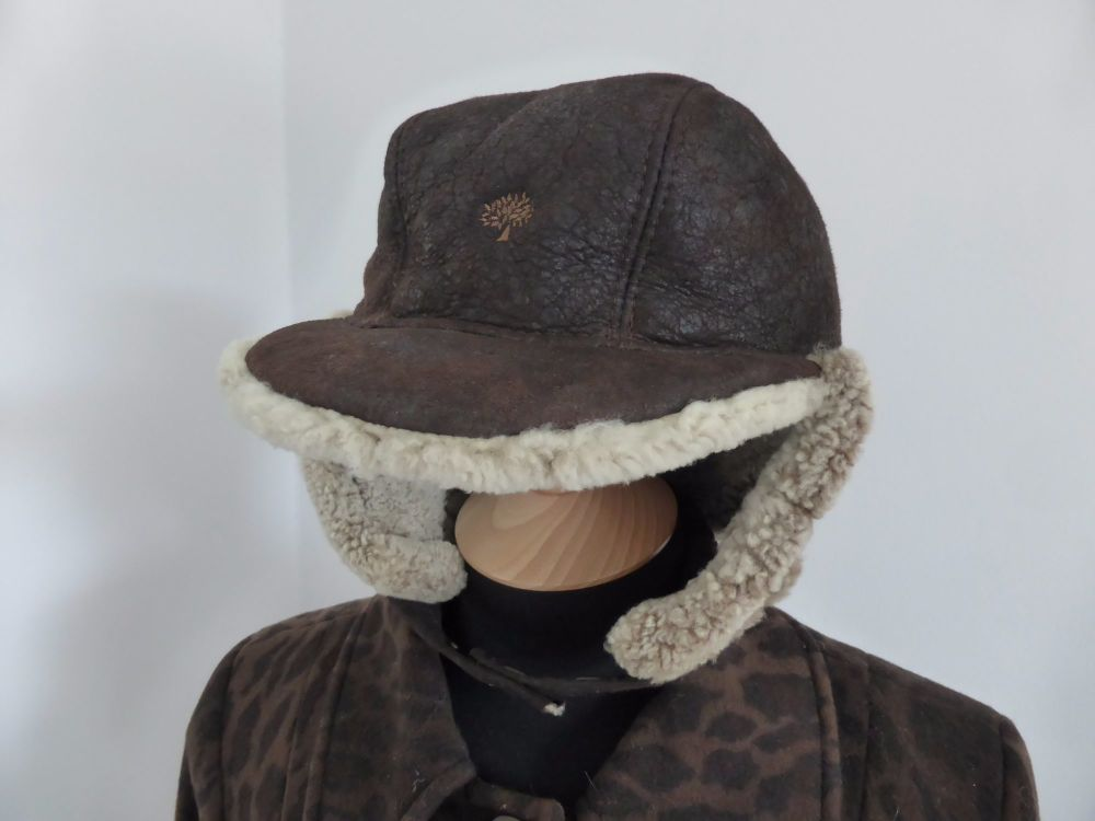 Mulberry Sheepskin Shearling Trapper Hat