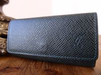 Louis Vuitton Key Holder Case in Dark Green Taiga Leather