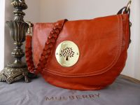 Mulberry Daria Satchel in Burnt Orange Soft Spongy Leather