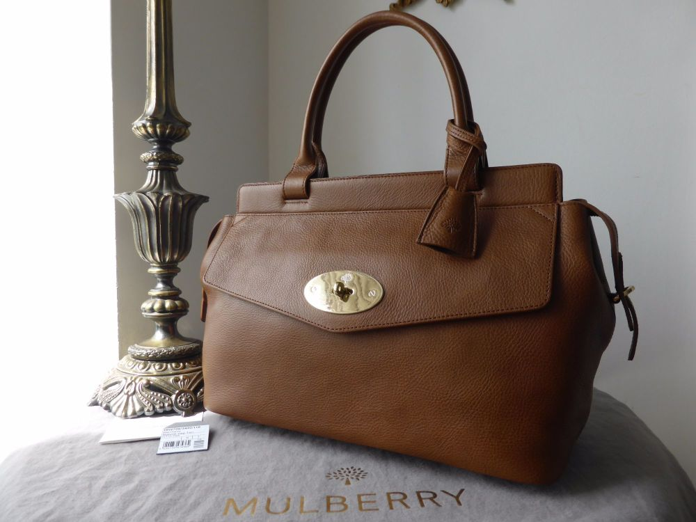 Mulberry Blenheim Tote in Oak Natural Leather - New