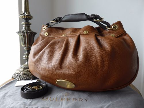62764f1c6b Mulberry East West Mitzy Hobo in Oak Pebbled Leather - SOLD