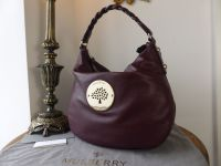 Mulberry Medium Daria Hobo in Oxblood Spongy Pebbled Leather