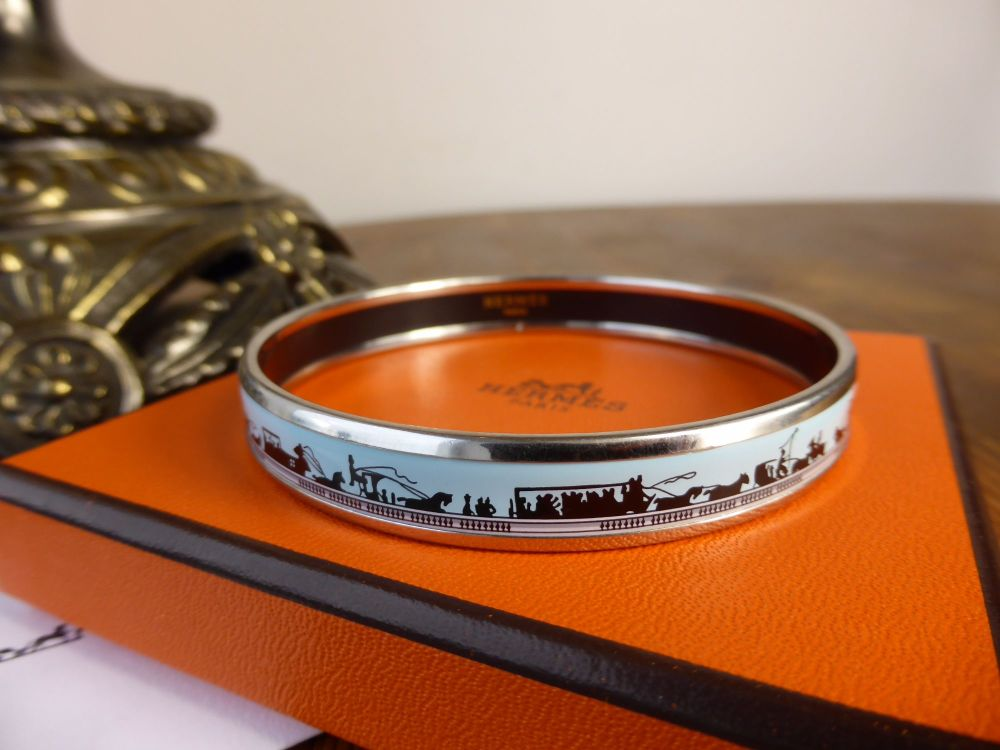 Hermés Printed Enamel Bracelet GM 'Les Ponts de Paris' by Hugo Grygkar