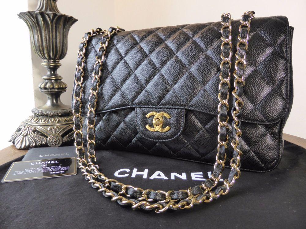 add476ea8f05b7 Chanel Classic Jumbo Single Flap in Black Caviar with Gold Hardware