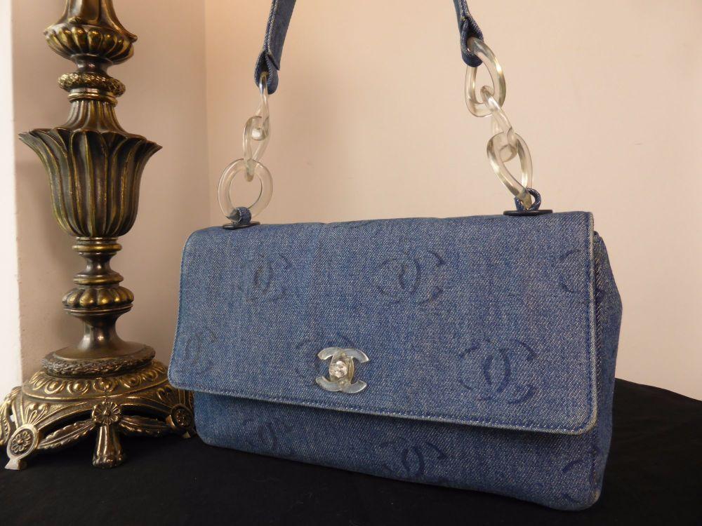 Chanel Denim Printed CC Casual Flap Bag