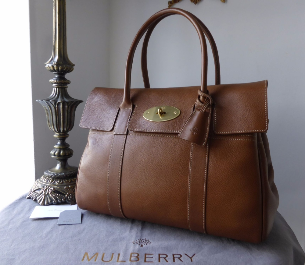 Mulberry Classic Bayswater in Oak Natural Leather with Gold Hardware - New*