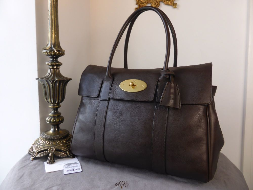 Mulberry Classic Bayswater in Chocolate Natural Vegetable Tanned Leather