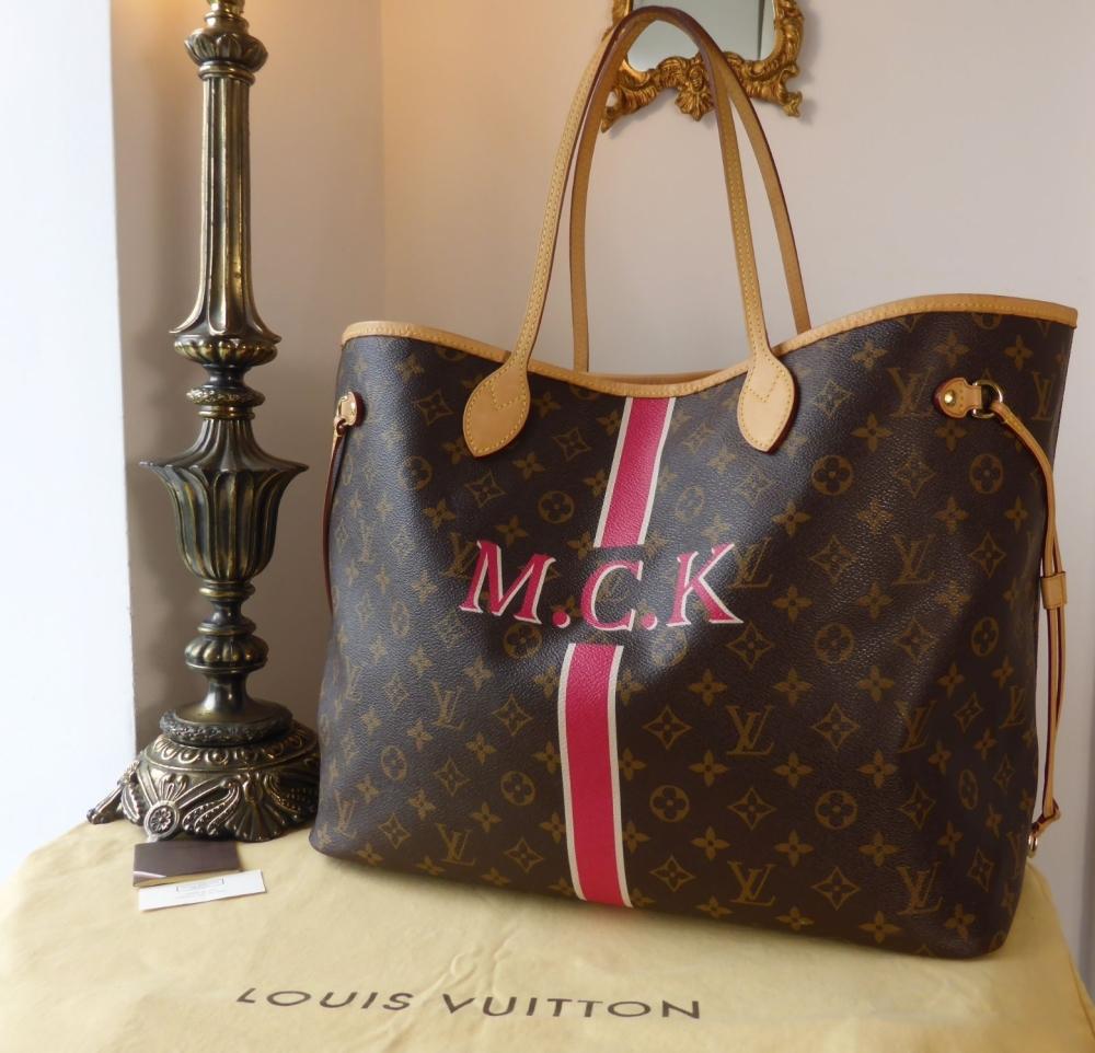 Louis Vuitton NeverfullGM Mon MonogramM.C.K with Fuschia Pink Interior