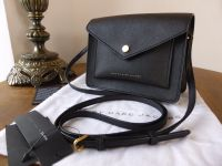 Marc by Marc Jacobs Mini Crossbody in Black Saffiano Leather - New