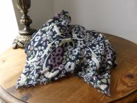 Mulberry XL Printed Wrap in Navy Floral Gecko Modal and Silk Mix
