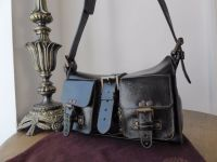 Mulberry Blenheim Vintage in Black Antique Glace Leather with Bronze Hardware