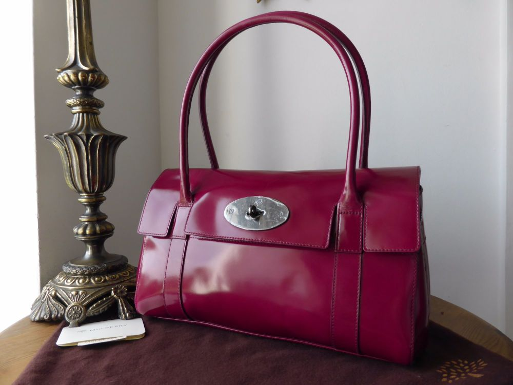 Mulberry East West Bayswater in Fuschia Spazzalato Leather