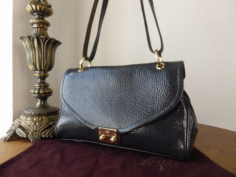 Mulberry Neely Small Shoulder Bag in Steel Spongy Patent Leather