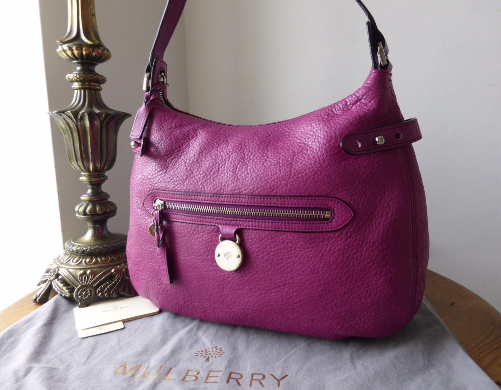 Mulberry Somerset Hobo in Fuschia Soft Matte Leather