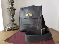 Mulberry Smaller Sized Antony in Black Darwin Leather