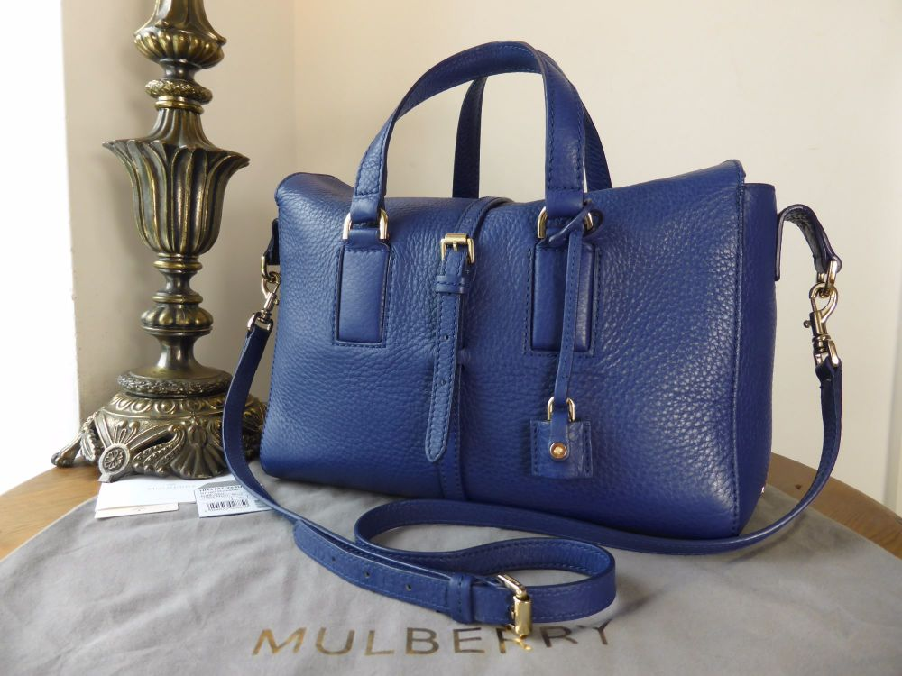Mulberry Smaller Sized Roxette in Neon Blue Calfskin